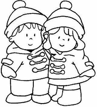 Coloriages hiver enfants - Coloriage hivers ...
