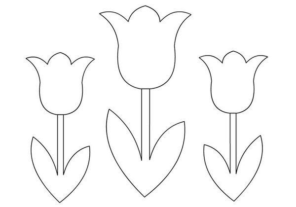 Coloriages fleurs tulipes - Coloriage tulipe ...