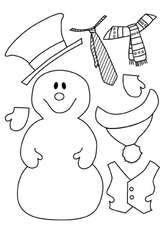 Activites personnage a habiller page 2 - Bonhomme de neige a colorier ...