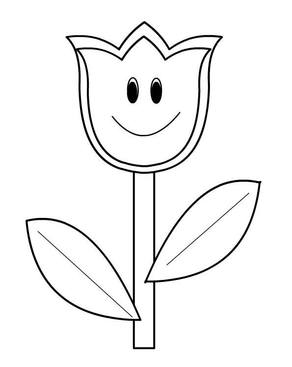 Coloriages fleurs - Coloriage fleur tulipe ...