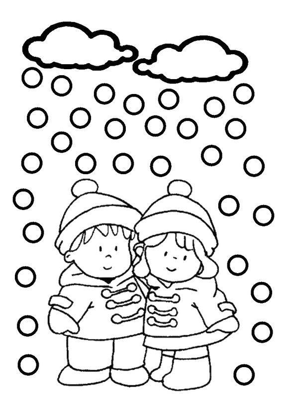 Coloriages hiver enfants - Image dessin enfant ...