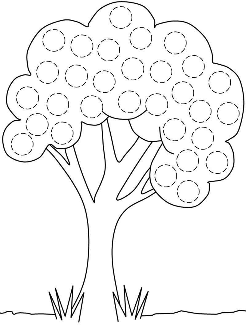 coloriage arbre fruitier
