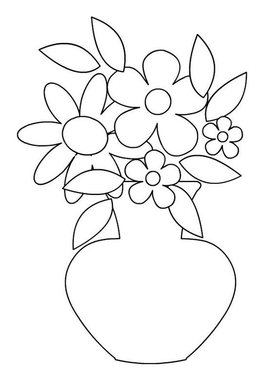 Coloriages vases for Flowers in vase coloring pages