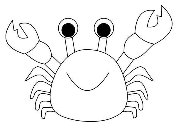 Coloriages animaux crabes for Sole disegno da colorare
