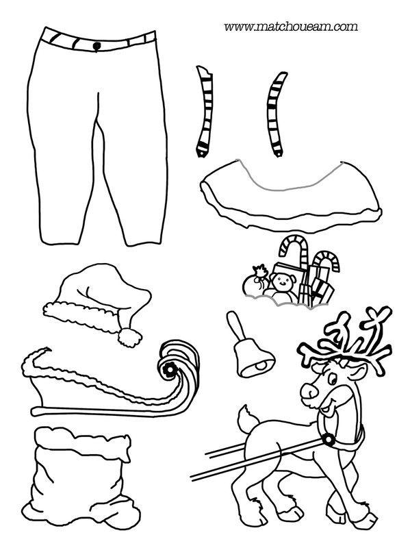 p re noel a habiller et colorier 3. Black Bedroom Furniture Sets. Home Design Ideas