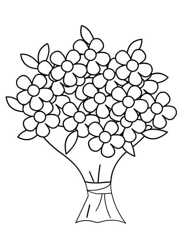 Coloriages fleurs bouquets - Dessins de bouquets de fleurs ...