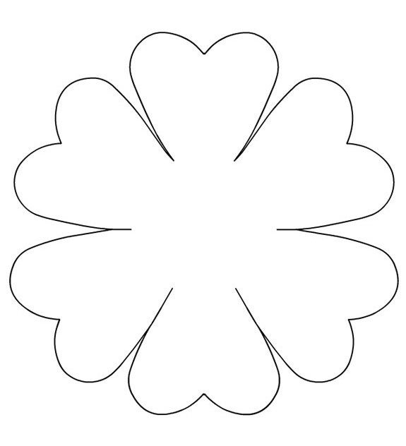 Gabarits printemps fleurs page 2 - Coloriage fleur 8 petales ...