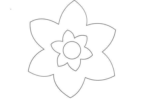 Gabarits printemps fleurs - Coloriage fleurs maternelle ...