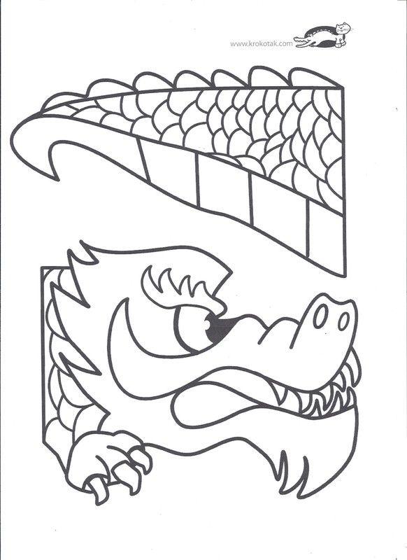 Activites nouvel an chinois - Coloriage de dragon chinois ...