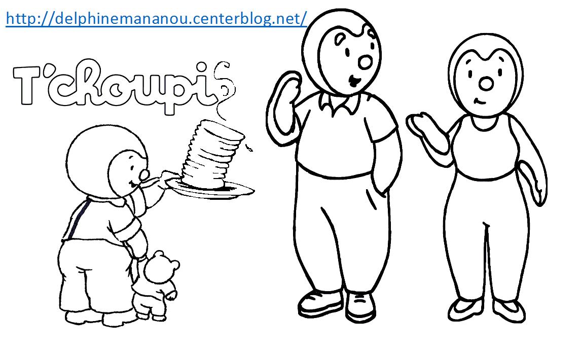 Coloriages noel - Tchoupi et doudou noel ...